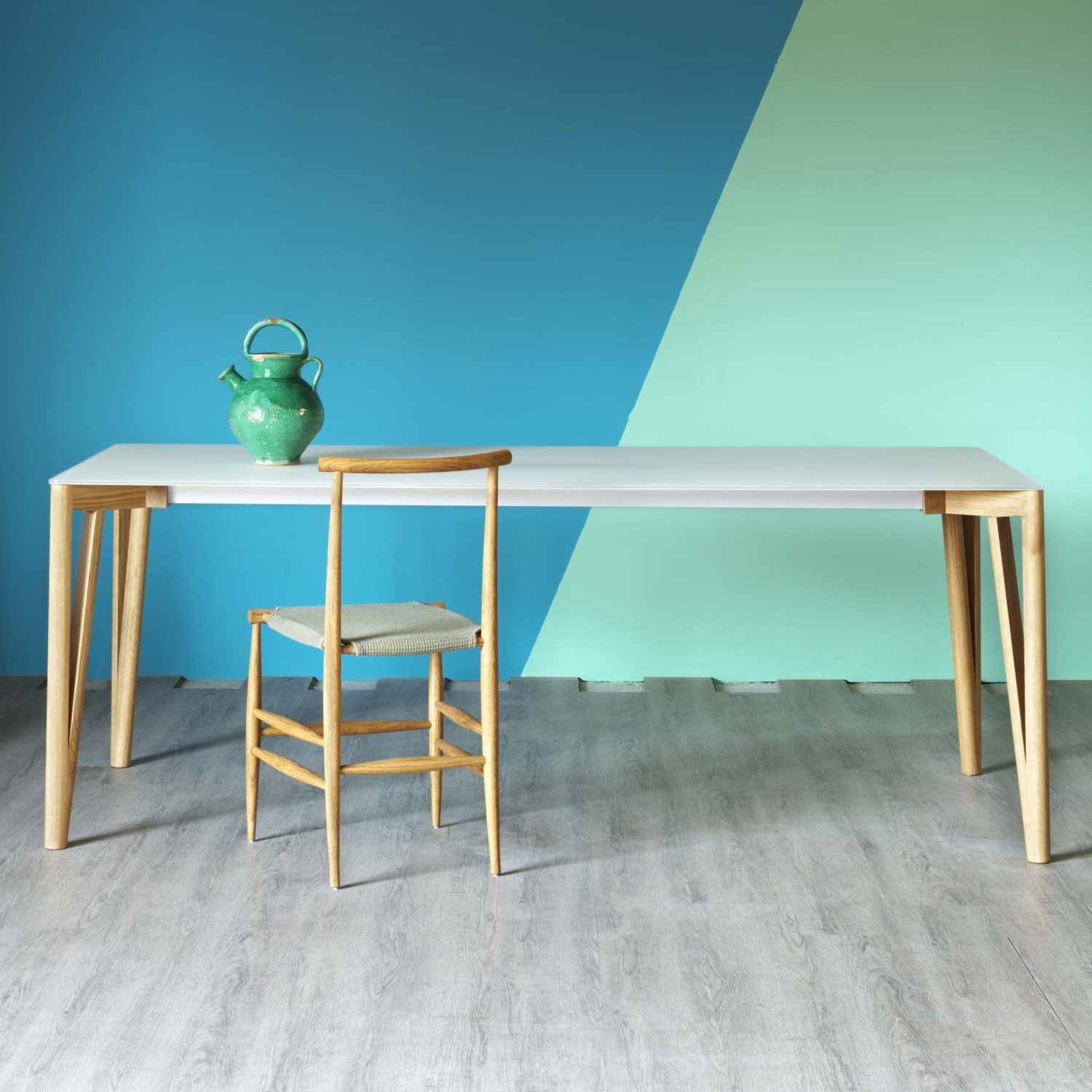 Decapo Extending wood and Glass Dining Table - Klarity ...