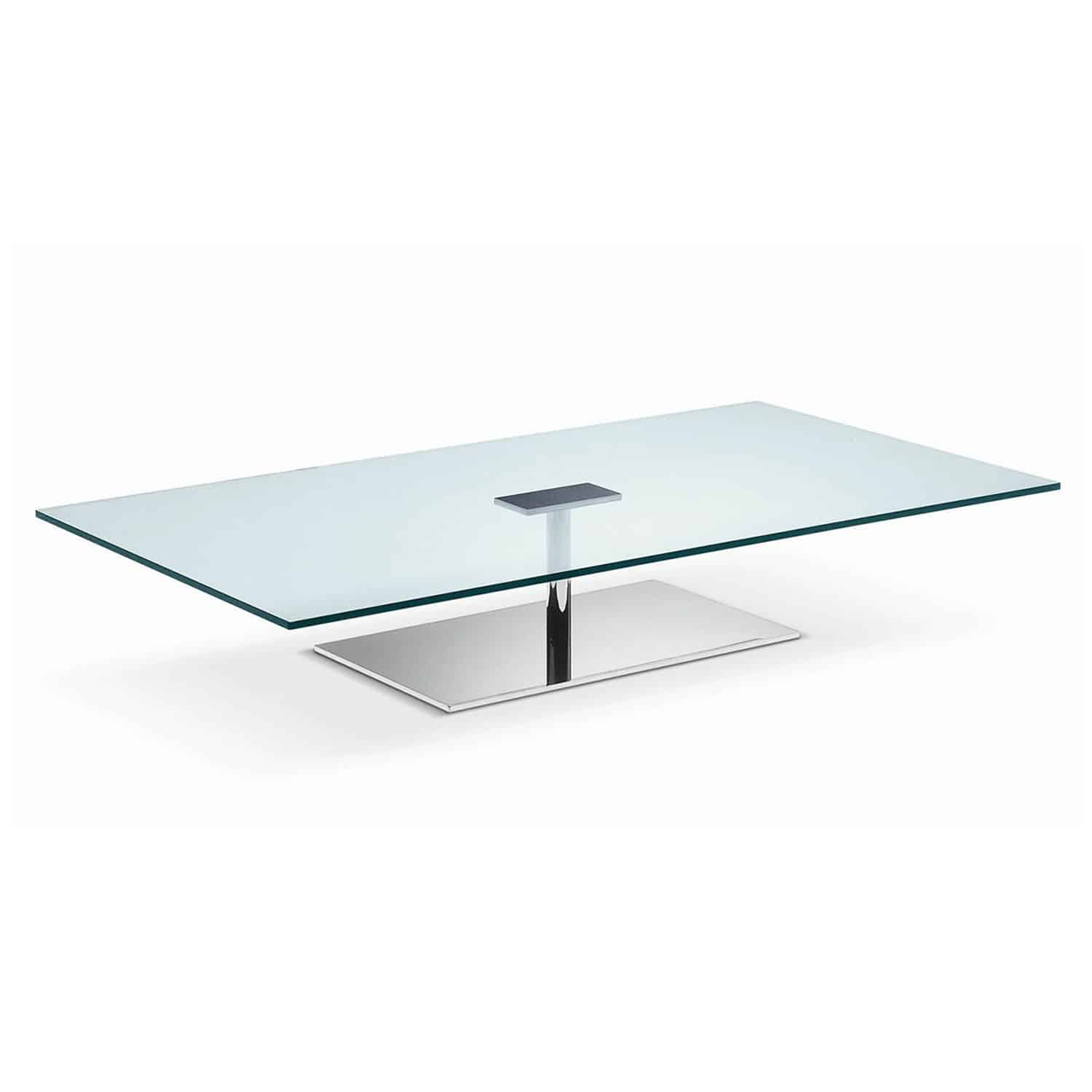Farniente Rectangular Glass And Metal Coffee Table By