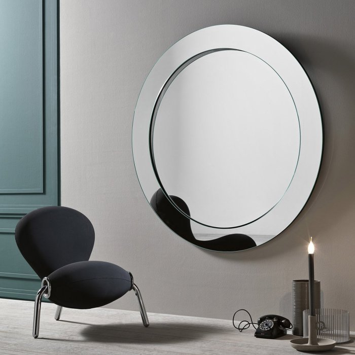 gerundio round wall mirror by tonelli