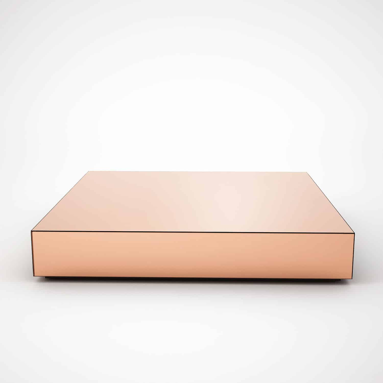 Copper Mirrored Coffee Table By Mirrorbox Klarity Glass Furniture