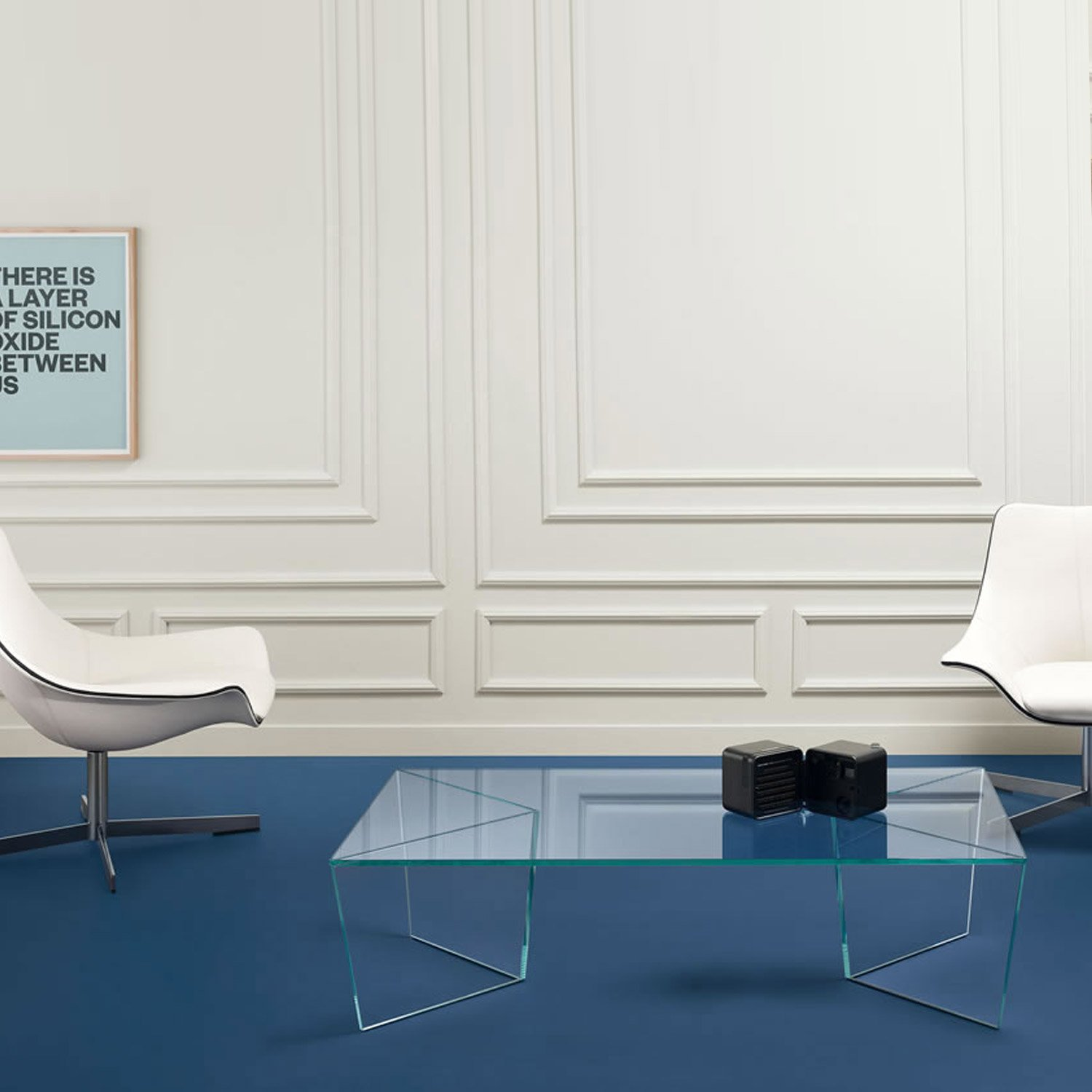 Mirage rectangular glass coffee table by tonelli klarity for Glass tea table price