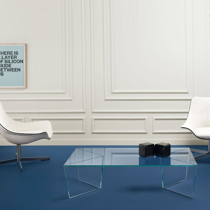 Mirage glass coffee table by tonelli