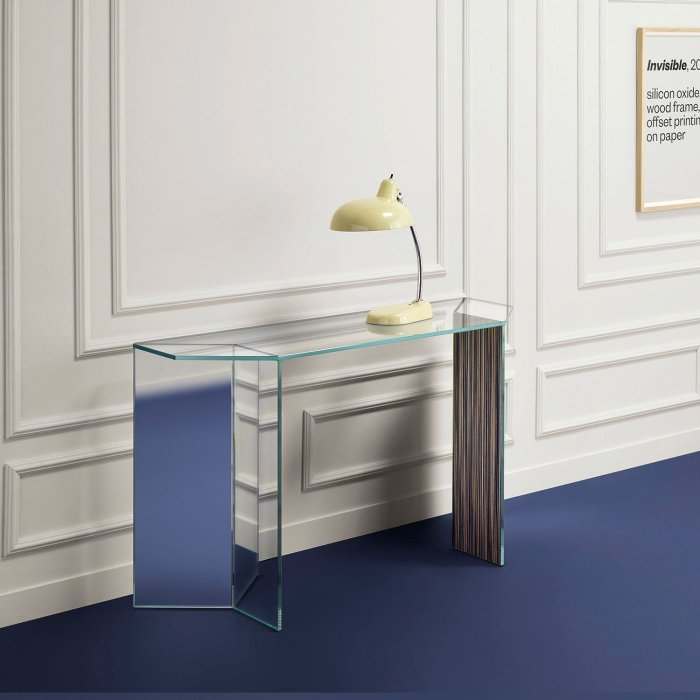 Mirage Glass console table by tonelli