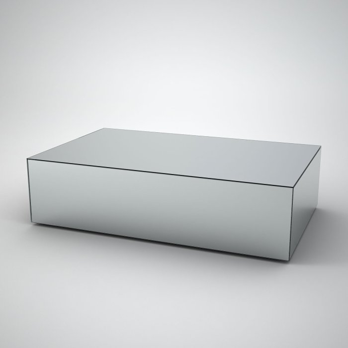 rectangular mirrored coffee table
