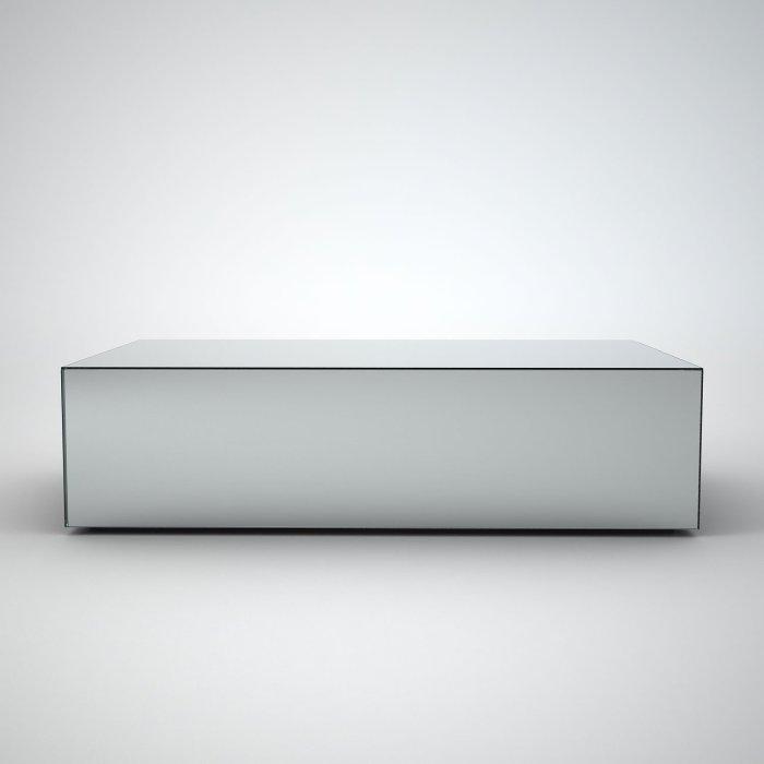 rectangular coffee table mirroed