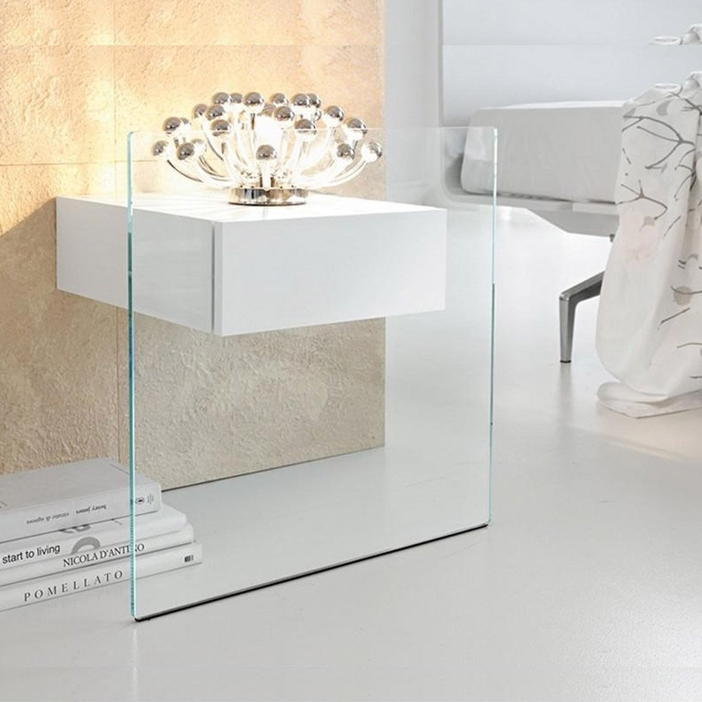 do mo glass side table by tonelli