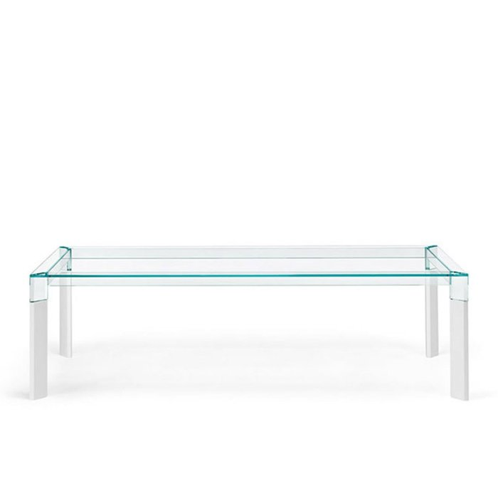 Perseo Glass and wood dining table by tonelli