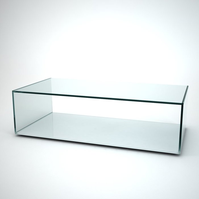 quebec glass coffee table with white base