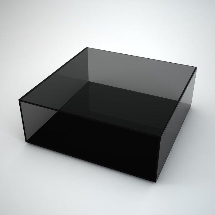 black glass coffee table square