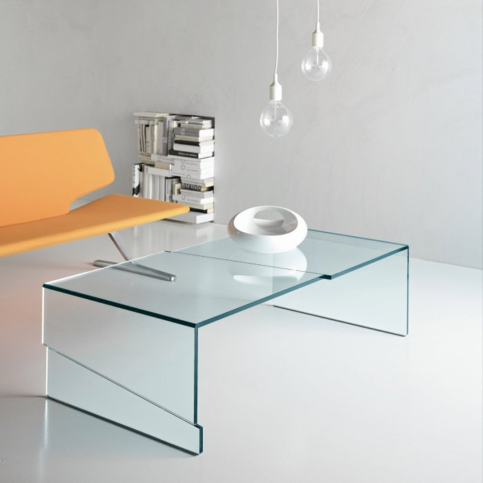 strappos glass coffee table by tonelli