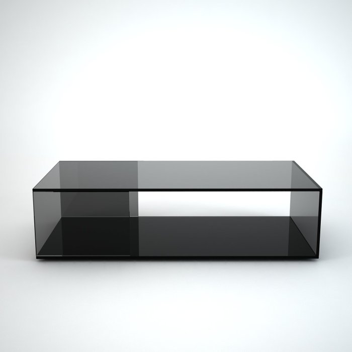 Tifino black glass coffee table