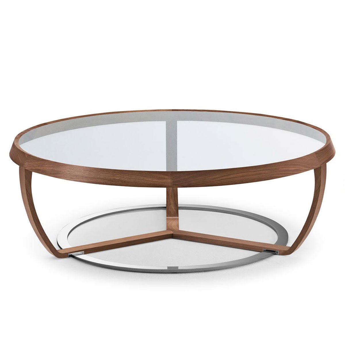 Time Walnut And Glass Coffee Table