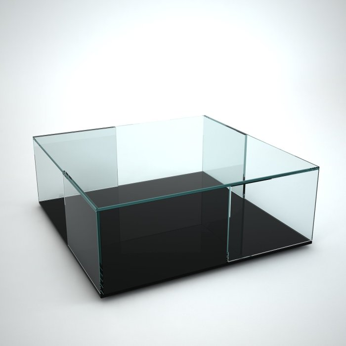 tifinno-square glass coffee table