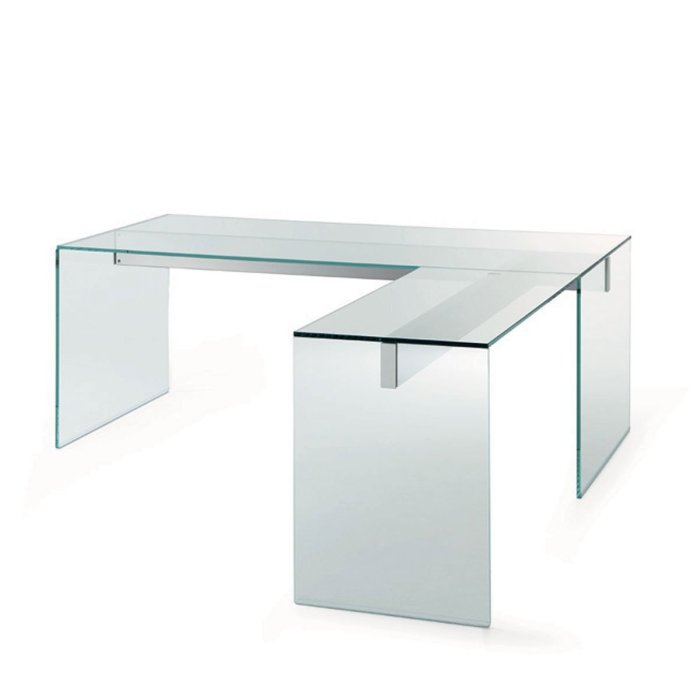 l shape glass desk