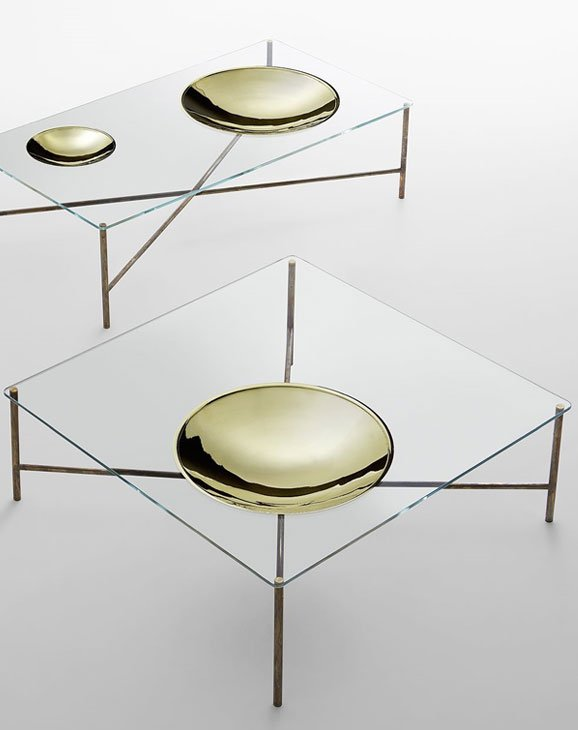 metal and glass coffee table