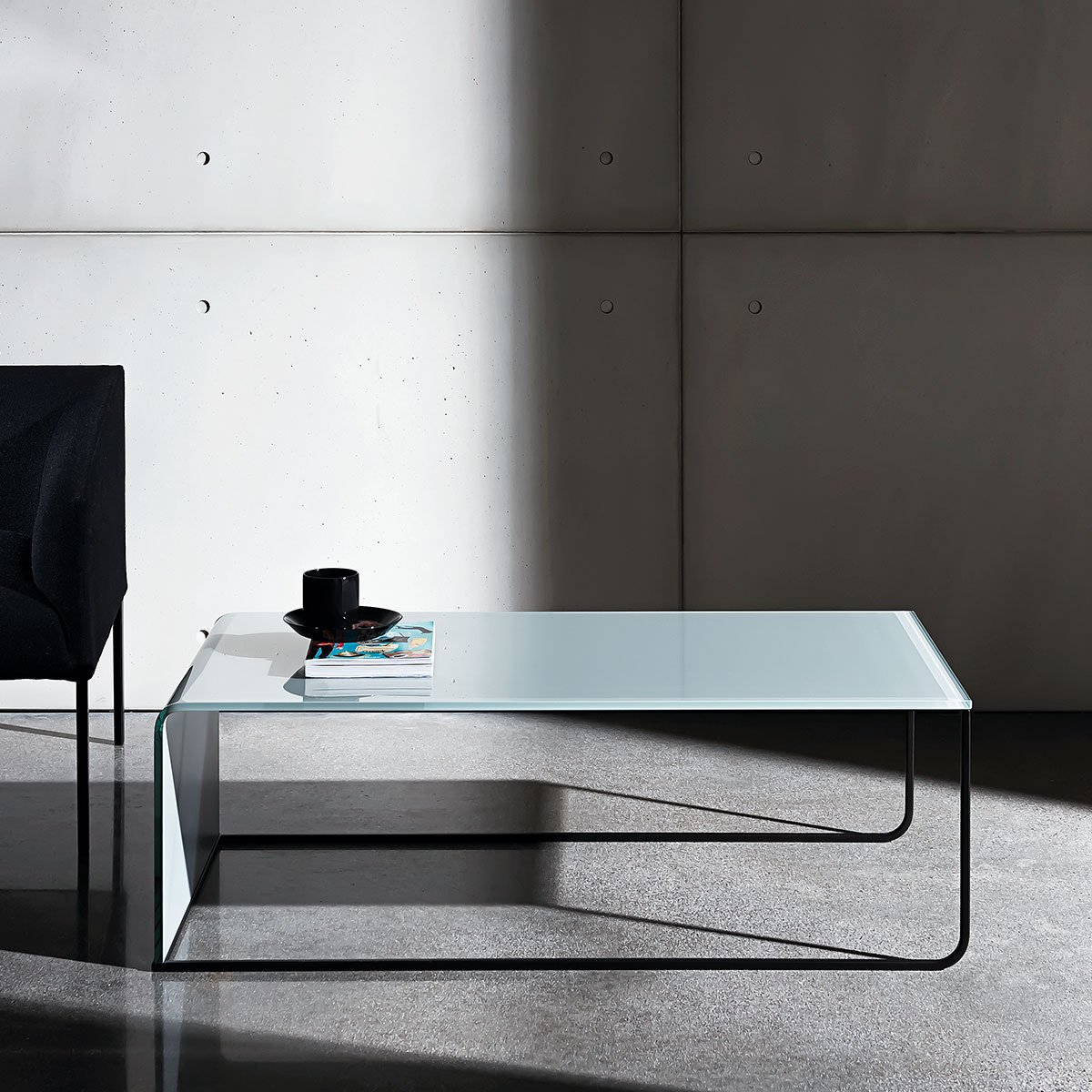 metal and glass coffee table sovet itala