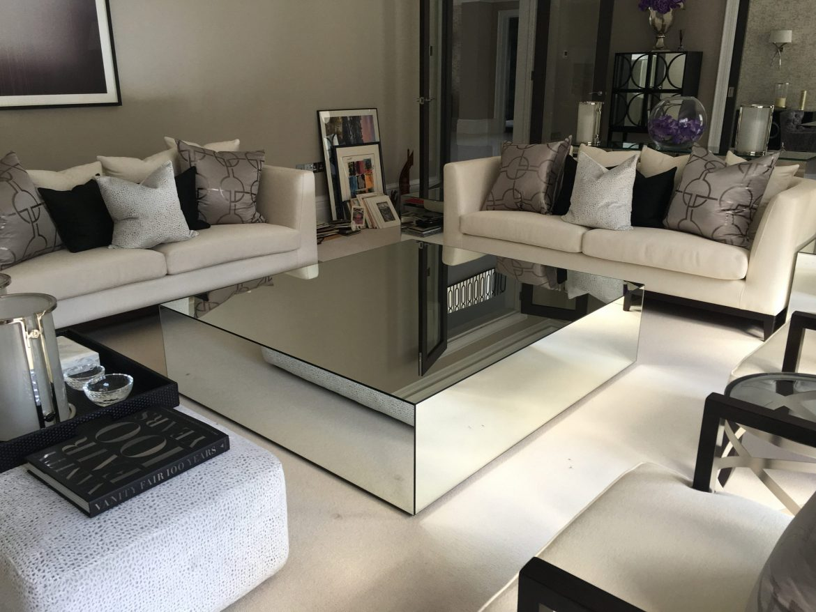 mirrored coffee tables klarity