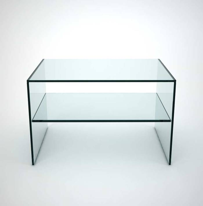 Glass Bedside table - Judd