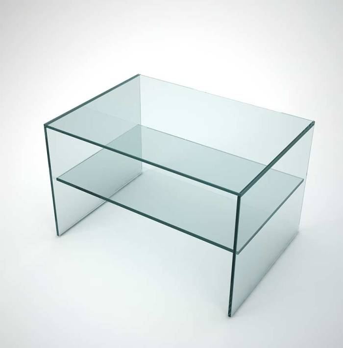 bed side table in glass