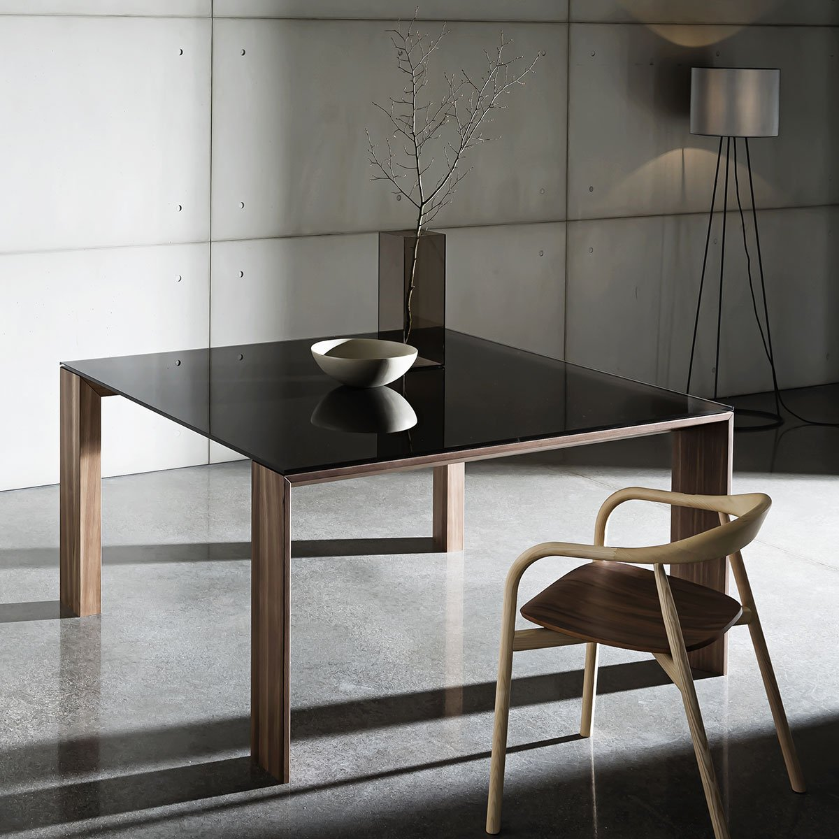 wood and glass dining table Torronto sovet
