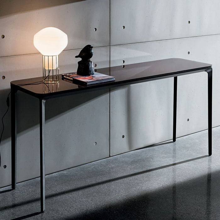 Slim Glass Console Table