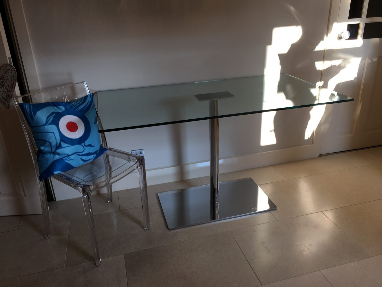 Farniente Glass and Metal Table