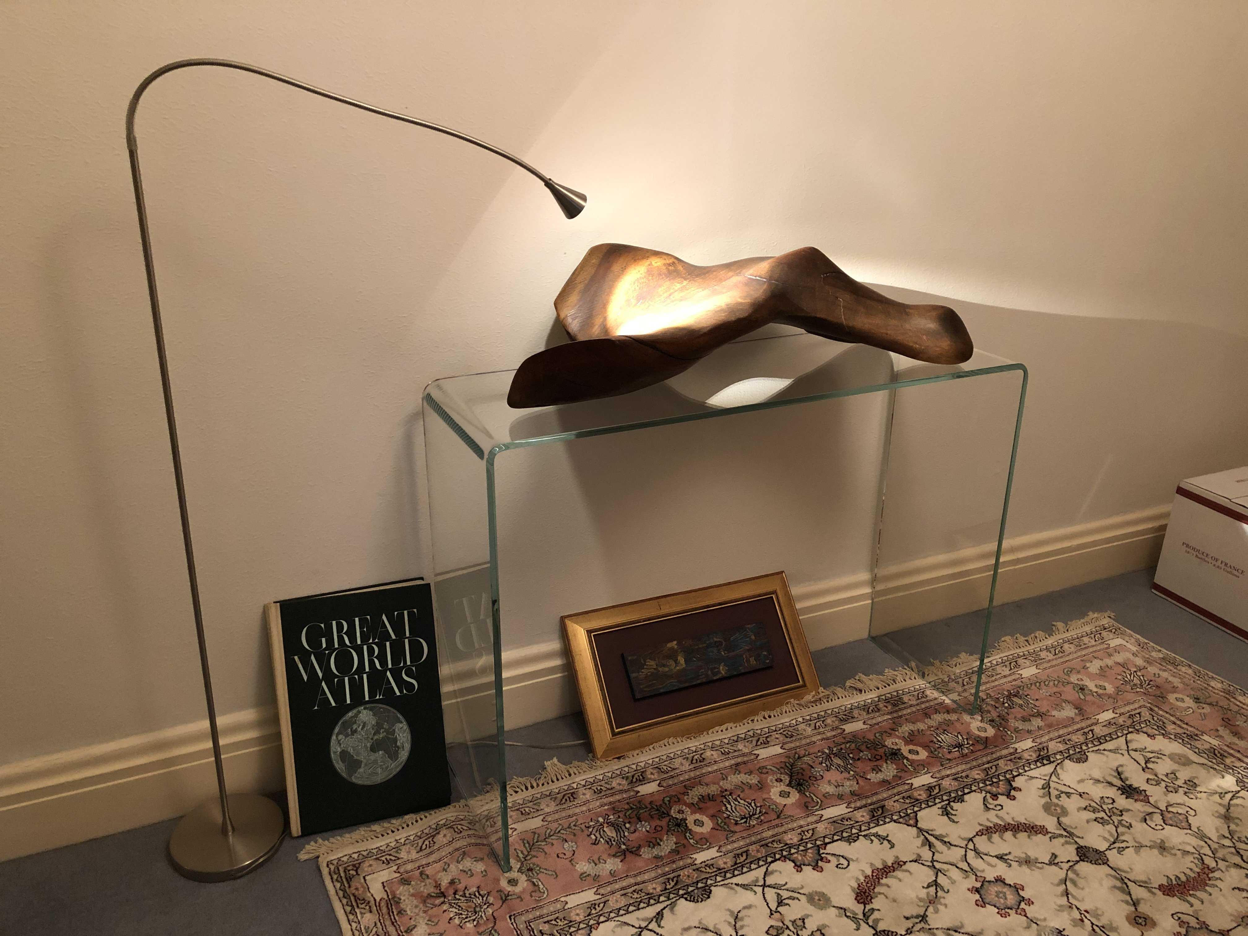 Hall Curved glass console table