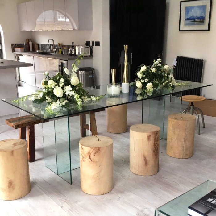Regency Glass dining Table