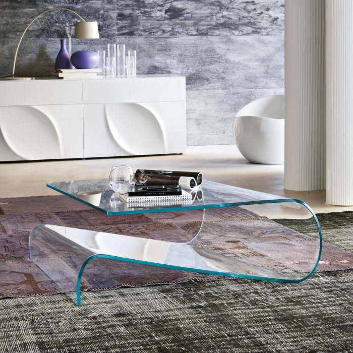 velo tonin casa curved glass table