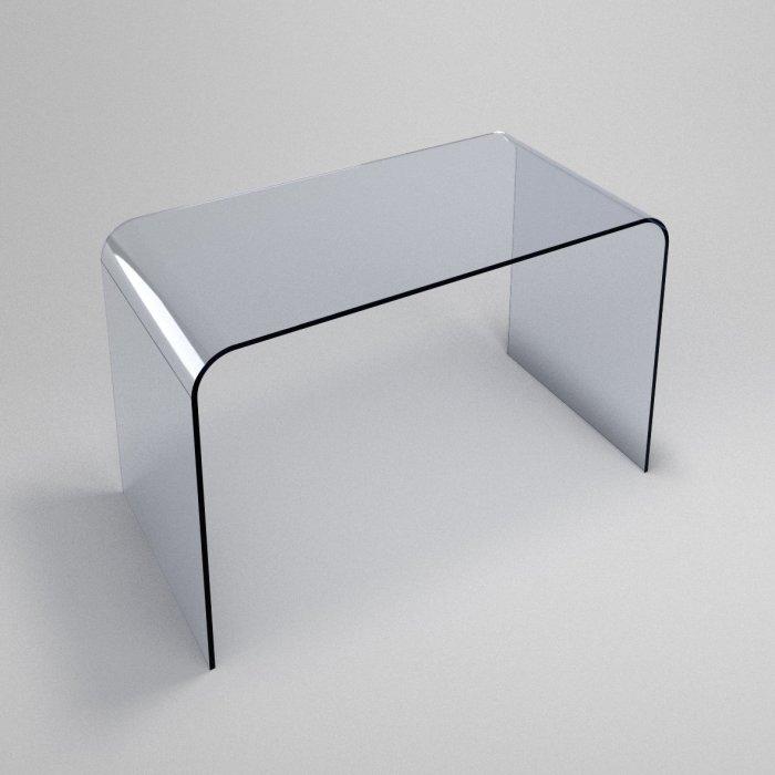 classic contemporary glass desk