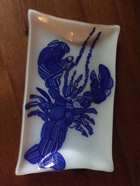 Fused Glass Lobster Platter