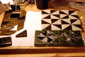 Assembling mosaic tiles
