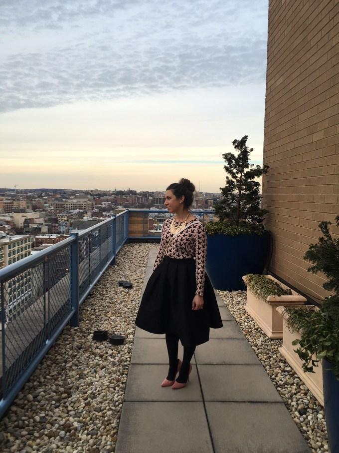 glass of glam - black midi skirt