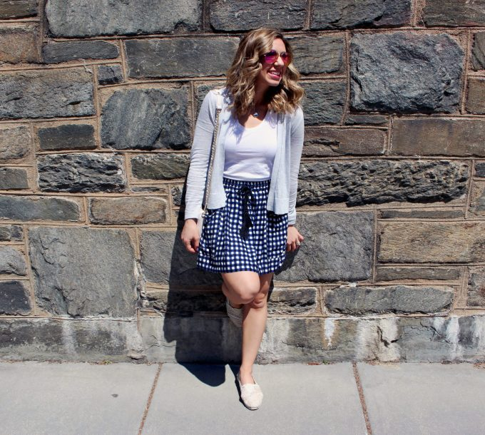 Gingham skirt | Glass of Glam