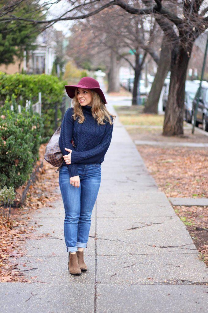 Blue Sweater Layering