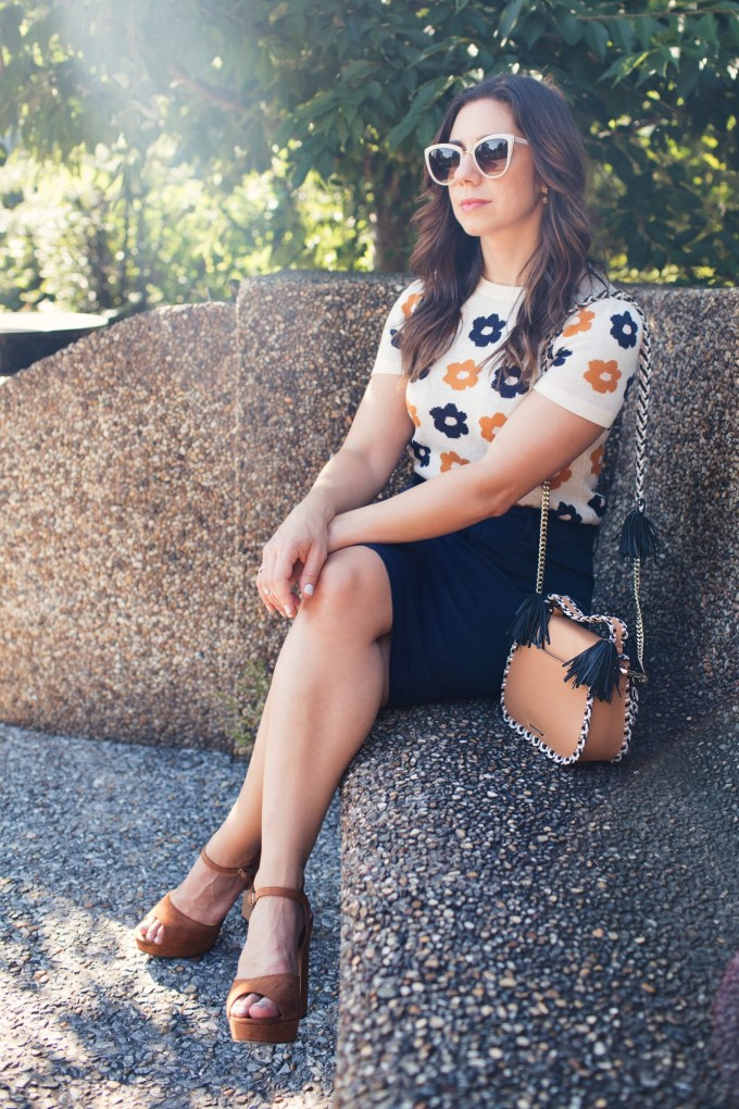 Lifestyle blogger Roxanne of Glass of Glam wearing a vintage inspired ModCloth outfit for work