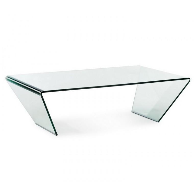 angled glass coffee table