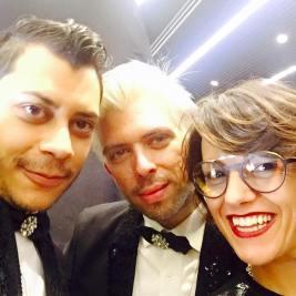 Franca con gli stilisti Diamond Luisant e Josemar Josè Andena - Ottica DIECIDECIMI® - Glass Stylist