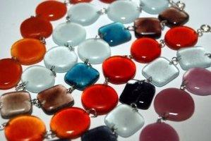 Recycled Glass Candy link bracelets