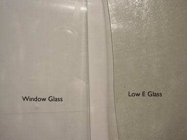 Plain glass and Low E Glass