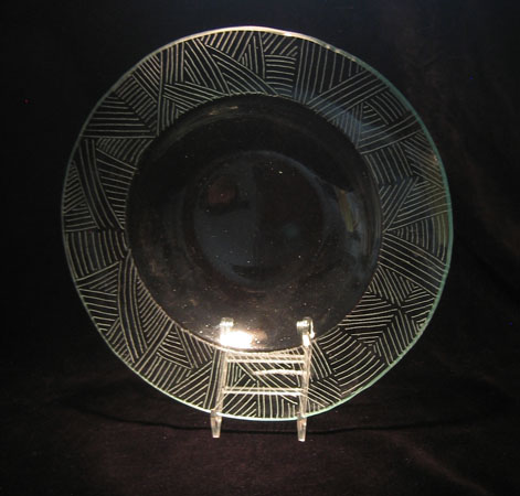 'untitled' - Engraved Recycled Glass Bowl