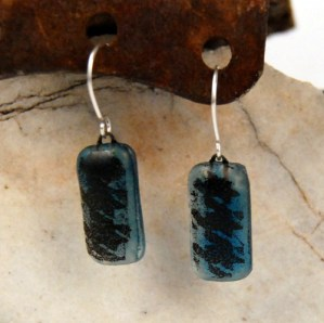 Recycled Window Glass Earrings