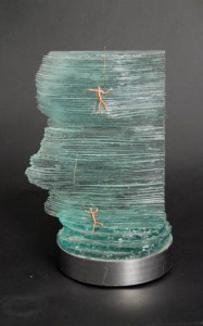 Recycled Window Glass Sculpture