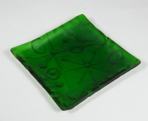 Texture Tile with Recycled Bottle Glass dish