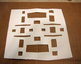 Fiber paper cut for kiln carving blue bottle
