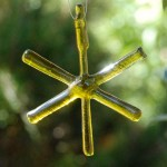 fused bottle glass star