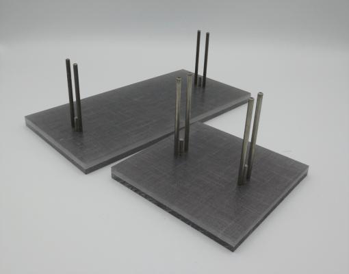 Gray linen stands