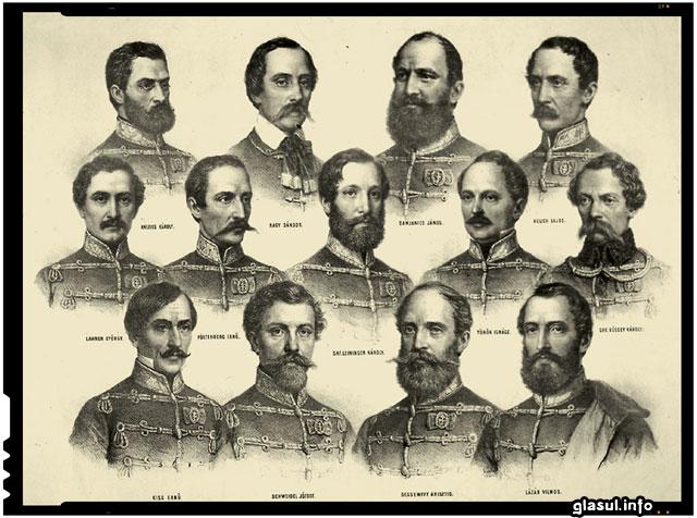 """Ce reprezintă cei """"13 generali maghiari din revoluţia de la 1848 – 1849"""" pentru români?"""