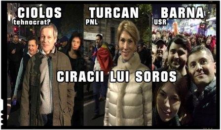 """Ciracii lui Soros : Liviu Plesoianu: """"Cioloș cu """"tehnocrații"""", Turcan cu """"liberalii"""", Barna cu """"USR-iștii""""... Un marș #POLITIC, susținut inclusiv prin prezență de oameni #POLITICI"""", Foto: Facebook.com"""