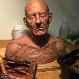Life size Old man Head study